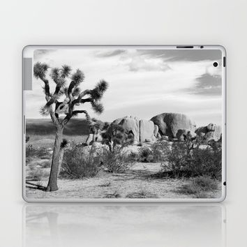 Black and White Joshua Tree National Park Laptop & iPad Skin by ARTPICS