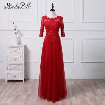 9e58fe2268e modabelle Red Tulle Lace Bridesmaid Dresses Long Robe De Fille D