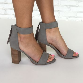 Casting Call Heels in Grey