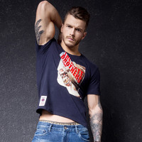 Print Short Sleeve Men's Fashion Summer Round-neck Stylish T-shirts [10488643267]