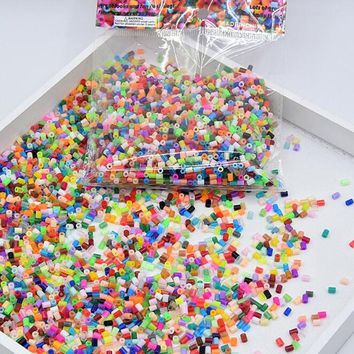 72 colors can choose 2.6mm hama beads perler fuse beads colours iron beads kids DIY handmade toys Gifts about 23000pcs/lot