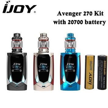 Original IJOY Avenger 270 Kit 234W Box Mod 4.7ML AVENGER SUBOHM Tank Electronic Cigarette Vape Vaporizer with Dual 20700 Battery