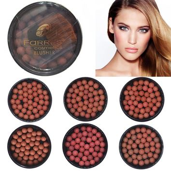 Farres Blush Palette Hot Makeup Blush Bronzer Long Lasting Natural Face Blush Bronzer Powder Comestic Ball Blusher Blush Pearls