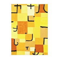 Paul Klee art: Characters in Yellow