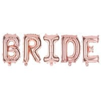 BRIDE Non-Floating Letter Balloons - 13 Inch Rose Gold