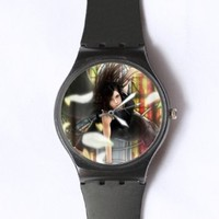 Custom TFinal Fantasy Watches Classic Black Plastic Watch WT-0833