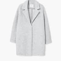Lapels wool coat - Woman | MANGO United Kingdom