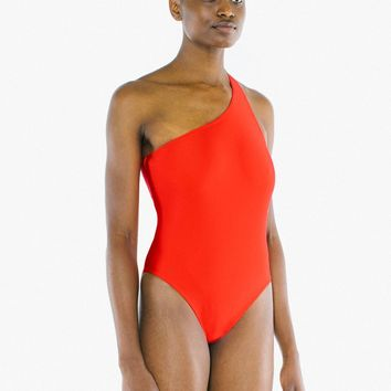 Nylon Tricot One Shoulder One Piece | American Apparel