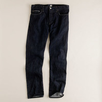 J.Crew Mens 484 Japanese Selvedge Jean In Resin Crinkle Wash
