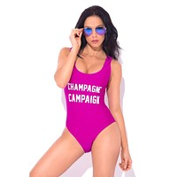 Champagne Campaign One Piece Swimsuit