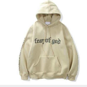 Sponge mice winter hiphop hoodie Justin bieber Fog fear of god letter print Sandcastle Kings long sleeve fleece men hoodies