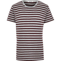 River Island MensBrown Only & Sons stripe t-shirt
