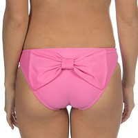 Solid Bow Back Hipster Bikini Bottoms in Pink by Lauren James - FINAL SALE