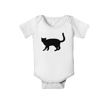 Cat Silhouette Design Baby Romper Bodysuit by TooLoud