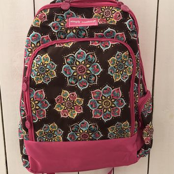 Simply Southern Backpack - Brown/Pink