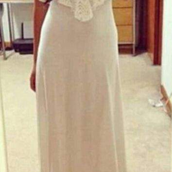 Neon Color Lace Stappy Maxi Dress