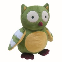 Lambs and Ivy Enchanted Forest Plush Owl, Green
