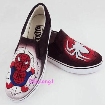 Hand made Spider-Man Converse Custom Shoes,Hand Painted Shoes,Custom Converse,Painted