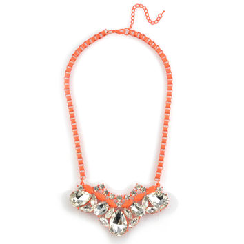 Neon Orange Charlotte Necklace