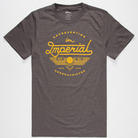 Imperial Motion Medford Mens T-Shirt Heather Black  In Sizes