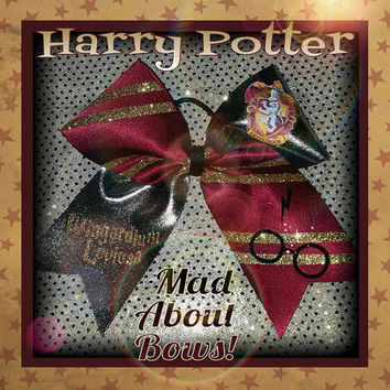 Harry Potter Cheer Bow by Mad About Bows