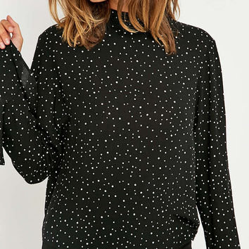 Pins & Needles Spot Flute Sleeve Blouse - Urban Outfitters