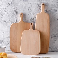 Wooden Cutting Board Cooking Chopping Block 3 Sizes Bread Board Wood Sushi Pastry Cheese Cake Serving Tray Wood Kitchen Utensils
