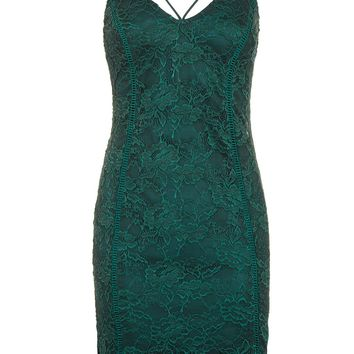 Strappy Plunge Lace Camisole Dress | Topshop