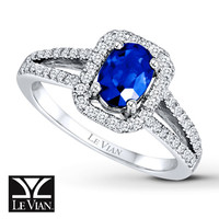Le Vian Natural Sapphire 1/4 ct tw Diamonds 14K Gold Ring