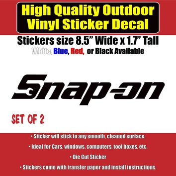 Snap-on - 2 Pack Many Colors Vinyl Car Window Laptop Bumper Sticker Decal