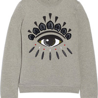 KENZO - Embellished cotton-fleece sweatshirt