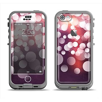 The Dark Purple with Glistening Unfocused Light Apple iPhone 5c LifeProof Nuud Case Skin Set