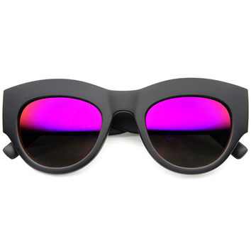 THE SHOW MATTE REVO MIRROR SUNGLASSES