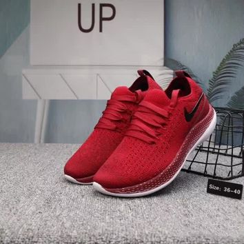 """""""Nike Free"""" Women Casual Fashion Multicolor Barefoot Flyknit Running Shoes Couple Sneakers"""
