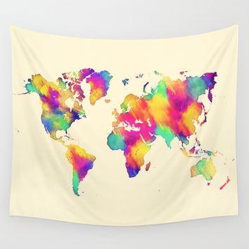 map 56 Wall Tapestry by jbjart