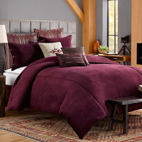 Solid Chenille Duvet Cover in Purple