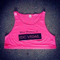 Rave Clothes - What Happens at EDC Vegas Shirts - Neon Crop Tops - Bad Kids Clothing | Bad Kids Clothing