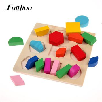 Fulljion Learning Education Wooden Toys For Children Puzzle 3d Magic Cube Kids Educational Toys Montessori Jigsaw New Year Gifts