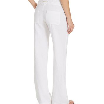 Roxy Oceanside Linen-Blend Pants | Dillards