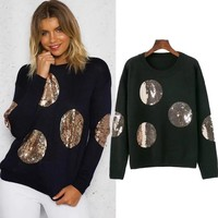 Round-neck Pullover Winter Women's Fashion Sweater [31066521626]