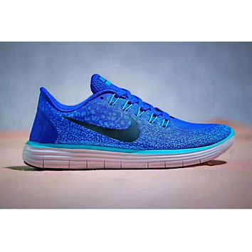 NIKE FREE RN tide brand men and women fashion running shoes sports shoes sports shoes F-PSXY Navy blue
