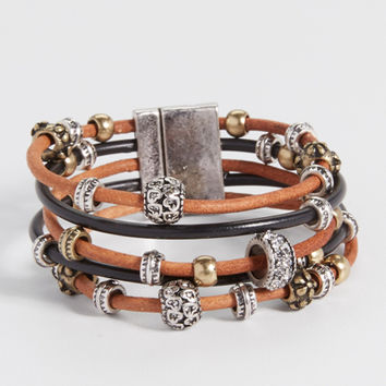 magnetic bracelet with beading | maurices