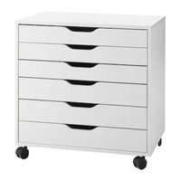 ALEX Drawer unit on castors White 67x66 cm - IKEA