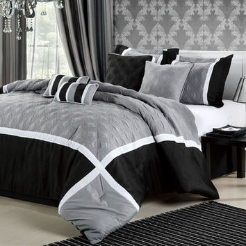 Chic Home Quincy 12 Piece Comforter Set & Reviews | Wayfair