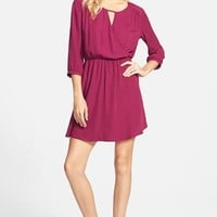 Junior Women's Lush 'Gigi' Wrap Look Dress,