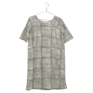 Grid Day Dress