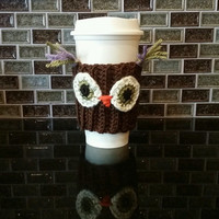 Kawaii Coffee/ cup cozy Owl Cuteness on a cup.