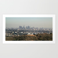 Los Angeles skyline Art Print by We heart Liam
