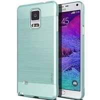 Galaxy Note 4, OBLIQ [Slim Meta][Metallic Emerald Mint] - Thin Slim Fit Bumper Armor Scratch Resist Metallic Finish Dual Layered Heavy Duty Hard Protection Hybrid High Quality Case (for Galaxy Note 4)