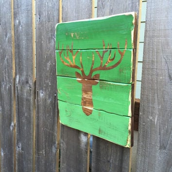 Deer Head Sign, Buck Wood Sign - Deer Head Sign - Buck Decor - Home Rustic Decor - Hunting Decor - Deer Sign - Ready to Ship